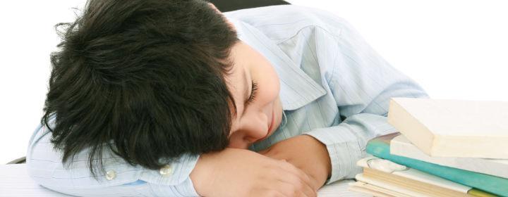 skoledreng sover