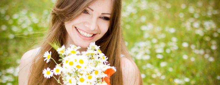Blomster i hånden